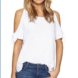 Sanctuary cold shoulder t-shirt. White